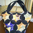 和柄のハンドメイドバッグ