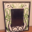 木製&ガラスの額✩可愛いエンボス加工&手作り品✩壁のインテリアに✩