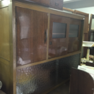 昭和レトロガラスの収納棚