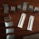 家具固定用のL型金具  大小12個