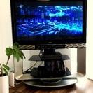 42インチ Hitachi プラズマテレビ & 首振りテレビ台 セット