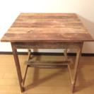 リサイクルウッドカフェテーブル 再出品値下げ
