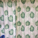 ハワイアンモンステラ柄カーテン