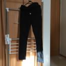 マタニティ用黒の綿パンツです
