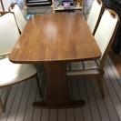 美品! ダイニングテーブル・椅子×4脚セット お引き取り希望します。