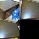 【中古】 テーブル1点、椅子1点  (家具2点セット) ★直接お渡し★