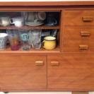 食器棚 茶だんす 作業台テーブルにも☆やや難あり