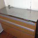 食器棚 ステンレス天板