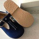 タルティーヌエショコラ 靴(スエード・紺色)14.0センチ