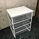 【IKEA】天板付ワイヤーキャビネット