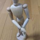 木製デッサン人形 30㎝台付き インテリアとしても