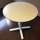 イケア IKEA カフェテーブル 円卓 白