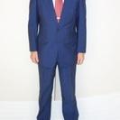 私の背広2 夏用 色青、ストライプ 身長172cm 体重68kg ...