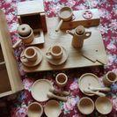 木製おままごとセット(食器&包丁トントン)