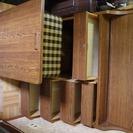 ライティングビューロー(折り畳み机と本棚)