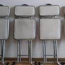ダイニングテーブルやデスク用の折り畳み椅子@4脚