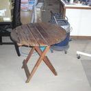 ウッドデッキ用 丸テーブル 折り畳み式