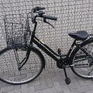 黒 六段ギアー付き自転車