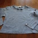 120センチ:長袖カーディガン・長袖Tシャツ2点セットで