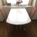 伸長式ダイニングテーブルセット