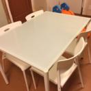 ダイニングガラステーブル♡椅子4脚セット