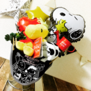 オススメ!大人気スヌーピーオムツケーキ男の子女の子出産祝いバケツ