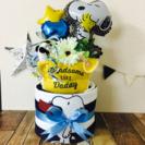 大人気出産祝い☆スヌーピーオムツケーキ☆男の子女の子出産祝い