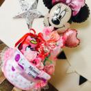 ディズニーミニーオムツケーキバケツ女の子出産祝い