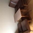 1人掛けソファ×4 カフェテーブルセット