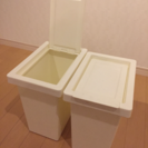 IKEAシンプルゴミ箱2個まとめて