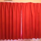 一級遮光  カーテン サーモンピンク 透けにくいレースカーテン付き