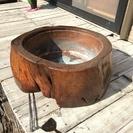 天然木火鉢