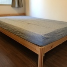 【値下げ】無印良品 セミダブル ベッド パイン材 中古