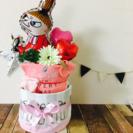 大人気出産祝い☆ミイオムツケーキ☆女の子出産祝い