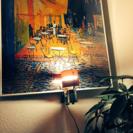 「夜のカフェテラス」のポスター&間接照明