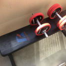 トレーニング器具 フラットベンチ ダンベルセット