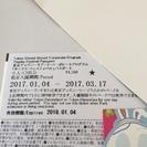 期限近 ディズニーリゾート共通パスポート(小人) ~3/17 42...