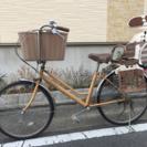 子供乗せ自転車バスケット付き自転車