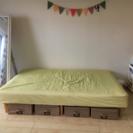 セミシングル★収納便利使いやすく可愛いベッド