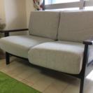 落ち着いた木枠★座り心地のよい可愛いソファ