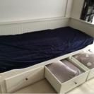 【美品】ソファベッド IKEA HEMNES マットレス付き【値下...