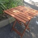 交渉中  木製ガーデンテーブル