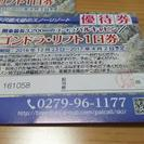パルコールつま恋リゾートスキー場 ゴンドラ・リフト1日券