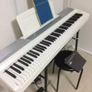 電子ピアノ一式(ホワイト)お譲りします