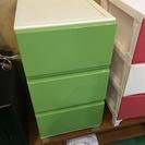 【期間限定・半額セール】3段カラーボックス グリーン