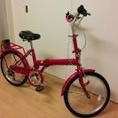 新品同様折り畳み式自転車鍵つき