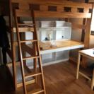 木製ロフトベッドさしあげます