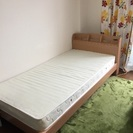 シングルベッド(コンセント、マットレス付)