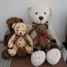 teddy bear(テディ ベア)のぬいぐるみです (4つセット)
