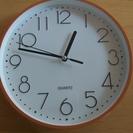 (交渉中)ビタミンカラーの壁掛け時計(単三電池1本使用)